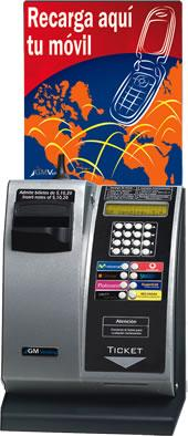 Máquinas procedentes de embargos- Recarga de teléfonos móviles y tarjetas internacionales.